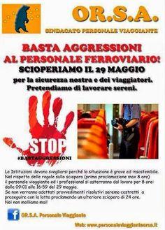 Or.S.A. Basta aggressioni al personale ferroviario | Comitato Pendolari Siciliani