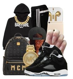 """""""BabyGirl"""" by honey-cocaine1972 ❤ liked on Polyvore featuring VFiles, adidas, MCM, Michael Kors and NIKE"""