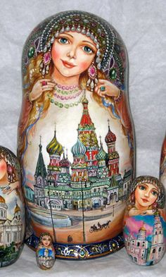 russian dolls Matrioska- Matroschka- Matriochka- Matrjosjka- russische Puppe Matroesja- Russian Nesting Doll   www.matrioskas.es
