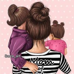 Mother And Daughter Drawing, Mother And Child Painting, Mother Daughter Quotes, Mother Art, Mom Daughter, Cute Girl Drawing, Cute Drawings, Image Nature, Girly M