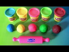 Learn Colors Peppa Pig Play-Doh Egg Surprise with Dough Stampers Spiderman by Funtoyscollector - YouTube