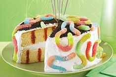 Survivor Birthday Poke Cake Recipe.  Fun, easy-to-make, & delicious! The kids and adults all loved the look and taste.