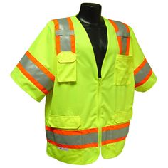 Radians Hi Vis Green Surveyor Vest Two Tone Class 3 Safety Clothing, Cover Up, Vests, Green, Stuff To Buy, Clothes, Fashion, Moda, Clothing
