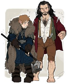 Clothing swap with Thorin and Bilbo. So cute! THILBO