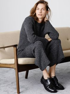 sweater and sweater trousers.