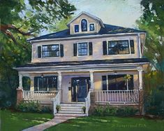 """Gregory Avenue by Brian Sauerland Pastel ~ 11"""" x 14"""""""