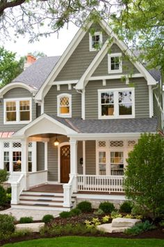 Exterior Of Homes Designs | House paintings, Green exterior paints ...