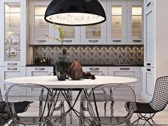 Fifty Shades of Grey. Kitchen & Living room Пятьдесят оттенков серого. Кухня и гостиная