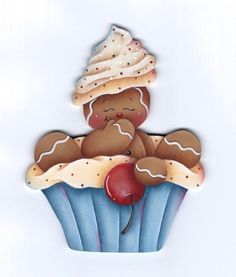 Gingerbread Cute as a Cupcake E-Pattern por GingerbreadCuties