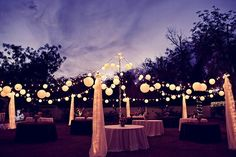 backyard wedding ideas on a budget | How to Light a Backyard Wedding.... maybe a rehearsal dinner.