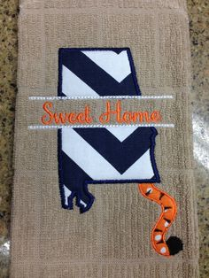 Sweet Home Alabama Dish Towel by OhSewSouthern on Etsy
