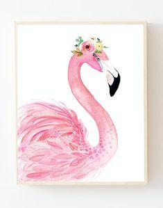 Pink isn't just a colour It a attitude 💗 . Flamingo Nursery, Coral Nursery, Flamingo Painting, Flamingo Decor, Let's Make Art, Tropical Art, Art Lessons, Watercolor Paintings, Painting Art