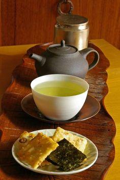Japanese Green Tea and Senbei
