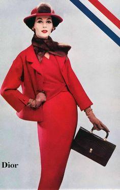 Dovima in Christian Dior    Ladies Home Journal, 1956