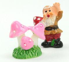 Pink - Mushroom Trio- Set of 4 Pieces - 207-1204