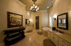 Traditional, elegant master bathroom