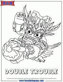 Skylanders Spyros Adventure Magic Series1 Double Trouble Coloring Page
