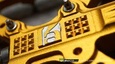 HT Kevina Aiello Pro Model Pedal detail pic.  Pedals available at BikeCo.com :  http://bikeco.com/pedals-list.aspx