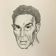 Quick sketch of Bill Nye the Science Guy for a collaboration.