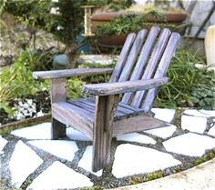Miniature Adirondack Chair Old Cape Cod Beach Chair For By Janit