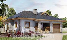 130-006-R Projekt domu parterowego i garażem, ekonomiczny dom podmiejski z bloczków silikatowych, Gliwice