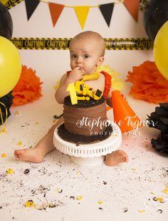 New ideas for construction birthday party cake smash 1st Birthday Boy Themes, First Birthday Pictures, Birthday Cake Smash, 1st Birthday Parties, Birthday Ideas, Construction Cake Smash, Construction Birthday Parties, Warrenton Va, 1 Year