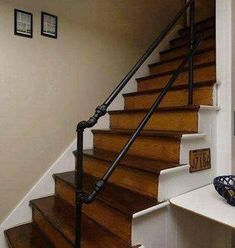 Pipe stair railing
