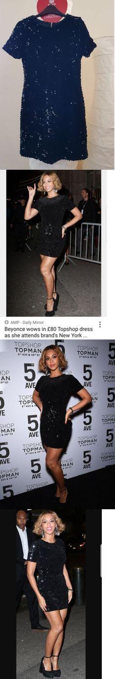 Beyonce Dresses: £80 Topshop Beyonce Lbd Black Velvet Flock Sequin Mini Shift Dress Uk 6 8 -> BUY IT NOW ONLY: $17 on eBay!