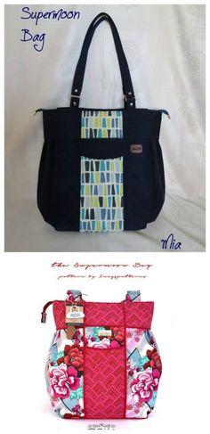 ea242caf1ecb BIG purse sewing pattern. Large handbag