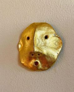 """OBJECT Rotterdam on Instagram: """"Tiny gold face #ceramic #sculpture #expression #precious #creature #collectorsitem #wall #small #object #handmade #home #decoration…"""""""