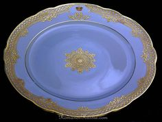 An antique Russian porcelain dinner plate from His Highness Own Service (Sobstvenny) of Tsarevich Alexander Alexandrovich (later Czar Alexander III). Petersburg, Russia, circa Diameter 9 in. Porcelain Jewelry, China Porcelain, Faberge Eggs, China Plates, Blue China, Antique China, China Patterns, Dinnerware, Decorative Plates