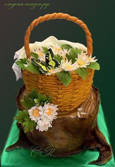 "Торт ""Корзина с ромашками"" от пользователя «Svetlana-P» на Babyblog.ru"
