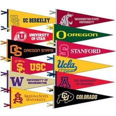 Image result for college pennants pac 12