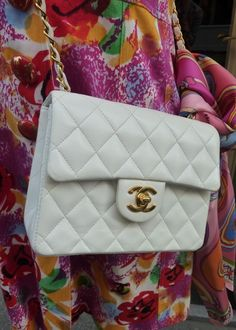 # WholesaleBagClan.COM  Mini 19 cm white chanel bag from Vintage collection