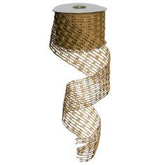 """Jute Mesh Ribbo Size: 2.5"""" in width; 10 yards in length Color: Natural Burlap Material: Jute  #trendytree #burlap"""