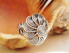 Ring Wire Braided with flower by wiredesignbydanilo on Etsy