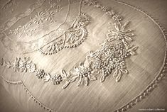 embroidered French summer bedspread