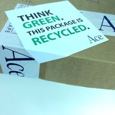 At Ace we ❤️ to ♻️! #ThinkGreen