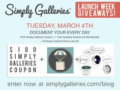 Big, huge week of giveaways happening at SimplyGalleries.com, including a brand new DSLR!