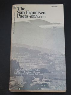 The San Francisco Poets by David Meltzer 1971 Vintage Paperback Book Beat Poets