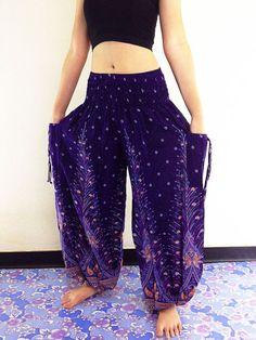 Women Harem Pants Yoga Pants Aladdin Pants Maxi Pants Baggy Pants Gypsy  Pants Rayon Genie Pant e93680cbc