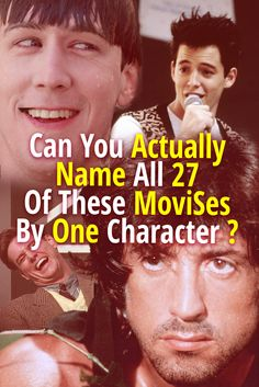 This is a quiz about main characters from classic movies. Can you names these main characters from movies? Trivia Quiz, Movie Trivia, Buzzfeed Movies, Quizzes Buzzfeed, 80s Movie Quotes, Fun Movie Facts, Film Quiz, Rock Music Quotes, Name That Movie