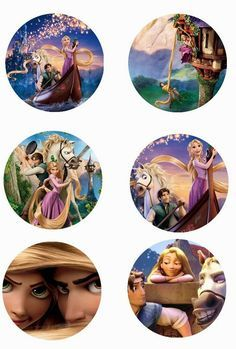 "Folie du Jour Bottle Cap Images: Tangled Disney free 1"" one 1 inch digital bottle cap images"
