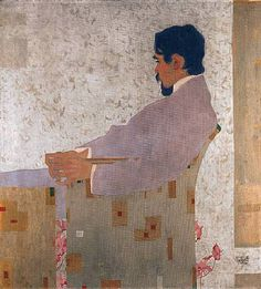 Artwork by Egon Schiele, portrAt des malers anton peschka (portrait of the painter anton peschka) Anton, Modern Art, Contemporary Art, Charcoal Sketch, Portrait Sketches, Contemporary Photographers, 3 Arts, Geometric Background, Gustav Klimt