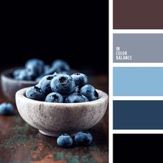 Blueberry colors - dark blue or navy, blue are perfectly matches with brown. Color inspiration for design, wedding or outfit. Moore color pallets on color.romanuke.com.
