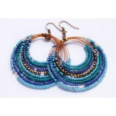 BLUE BEADS EARRINGS