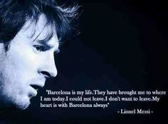 Messi about his club Barcelona. Good Soccer Players, Football Players, Leonel Messi, Manchester United, Real Madrid, Barcelona, My Life, Religion, Club