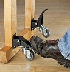 My woodshop has limited space (in a dedicated one-car garage), and therefore all of my power tools are mounted on mobile bases. #woodworkingbench