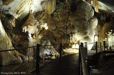 Long Cave. The Gunung Mulu National Park is a national park in Miri Division, Sarawak, Malaysia, is a UNESCO World Heritage Site that encompasses caves and karst formations in a mountainous equatorial rainforest setting.