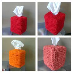 FREE Crochet Pattern: Square Tissue Box Cover